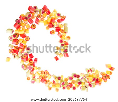 lot of a fruit candies for background - stock photo