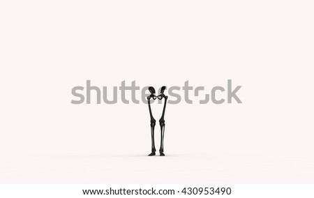 lower limb anotomy 3d illustration - stock photo
