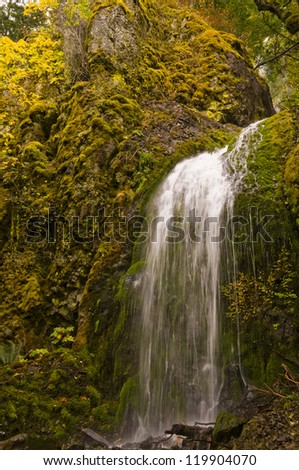 Lower Tier of Lancaster Falls, Oregon - stock photo