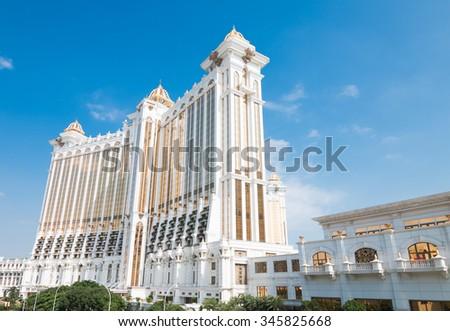 MACAU,CHINA - NOV 24:The Galaxy Hotel on Nov 24, 2015 in Macau. This is a major tourist attraction in Macau. - stock photo