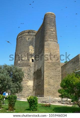 Maiden Tower  in the Old City. Baku. Azerbaijan. - stock photo
