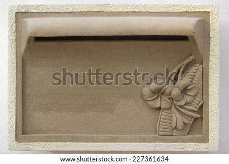 mailbox with mails - stock photo