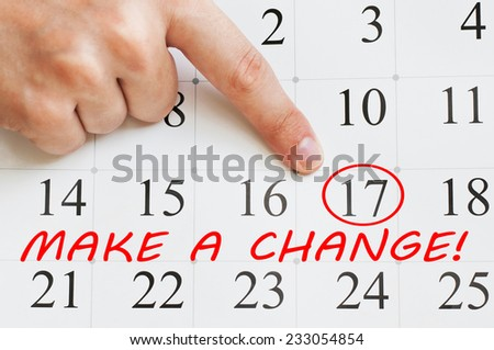 Make a Change - stock photo