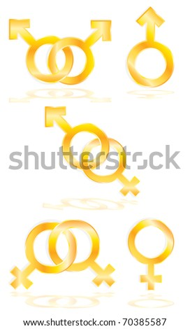 Male and Female symbols - stock photo
