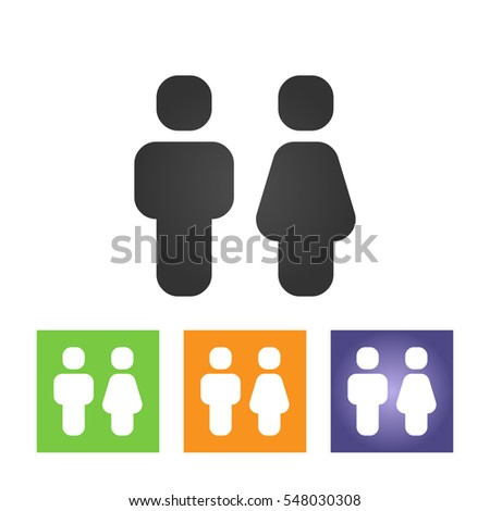 man and woman icons  toilet sign  restroom icon  minimal style  pictogram. Vector Man Woman Icons Toilet Sign Stock Vector 547044907