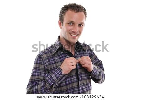 man posing - stock photo