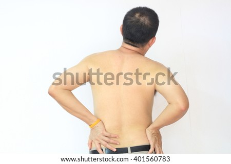 Man  suffering from back pain injury,Healthcare