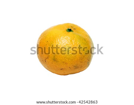 Mandarin on white background (isolated).