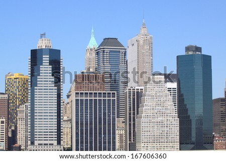 Manhattan Skyline, New York City - stock photo