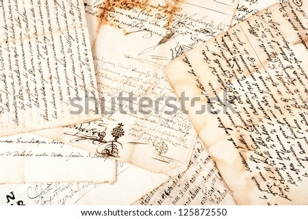 manuscripts of the 1700/1800 century - stock photo