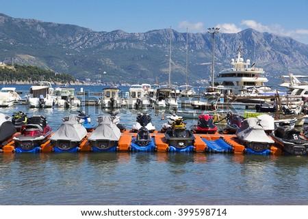 Many ships on the dock. - stock photo