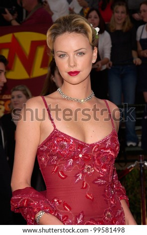12MAR2000: Actress CHARLIZE THERON at the 6th Annual Screen Actors Guild Awards in Los Angeles.  Paul Smith / Featureflash - stock photo