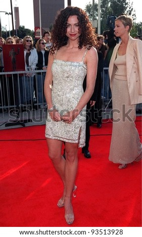 08MAR98:  Actress MINNIE DRIVER at the Screen Actors Guild Awards in Los Angeles. - stock photo