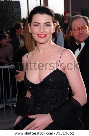 "08MAR98:  ""ER"" star JULIANNA MARGOLIS at the Screen  Actors Guild Awards in Los Angeles."