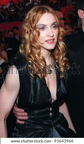 23MAR98:  Pop star/actress MADONNA at the 70th Academy Awards. - stock photo