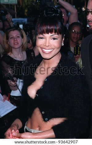 10MAR98:  Pop star JANET JACKSON at the Blockbuster Entertainment Awards, in Los Angeles, where she won the award for Favorite Female R&B Artist.