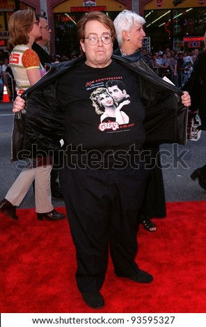 "15MAR98:  Producer ALLAN CARR at 20th anniversary re-premiere of ""Grease"" at Mann's Chinese Theatre, Hollywood."