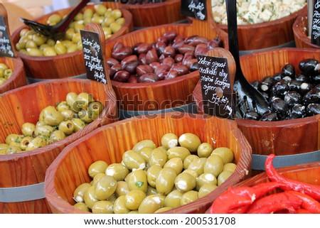Market in Prague, Czech Republic  - stock photo