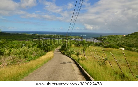 Martinique, the picturesque cap Macre of Le Marinin West Indies