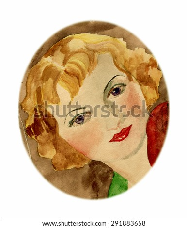 1940 Mary's face - stock photo