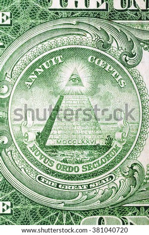 Masonic symbol for One US dollar 1935th