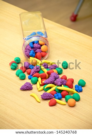 Material for Preschool Classroom - stock photo