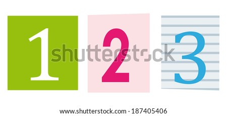 123 maths education symbol letters cut stock illustration 187405406 letters cut out of books and magazines spiritdancerdesigns Images