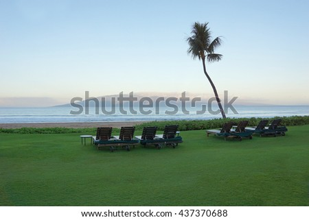 Maui morning view                              - stock photo