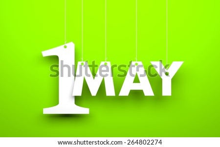 1 may - stock photo
