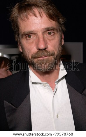 17MAY2000: Actor JEREMY IRONS at Cure By The Shore benefit party at the Cannes Film Festival.  Paul Smith / Featureflash