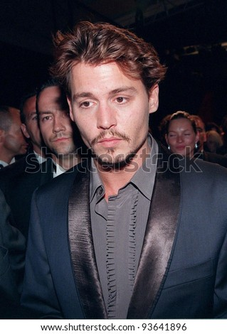 """15MAY98: Actor JOHNNY DEPP at the Cannes Film Festival to promote his movie, """"Fear and Loathing in Las Vegas."""" - stock photo"""