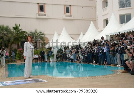 13MAY2000: Actress ANGIE EVERHART at the Cannes Film Festival to promote her new movie Gunblast Vodka.  Paul Smith / Featureflash - stock photo