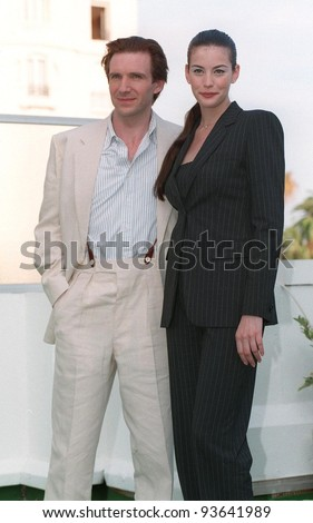 "20MAY98:  Actress LIV TYLER & actor RALPH FIENNES at Cannes Film Festival to promote their new movie ""Onegin."""