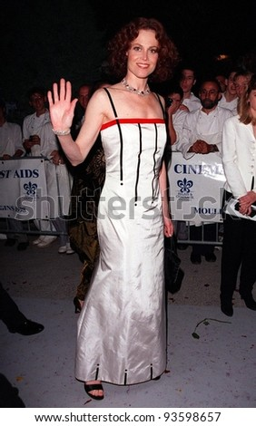 21MAY98:  Actress SIGOURNEY WEAVER at AmFAR's Cinema Against AIDS gala  at Moulin de Mougins, France.