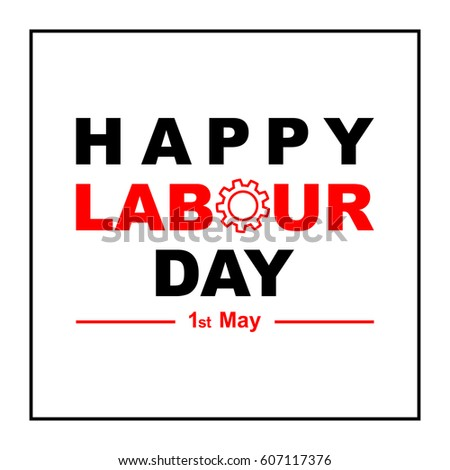 1 may labour day greeting card stock illustration 607117376 1 may labour day greeting card or background flat design contour line m4hsunfo