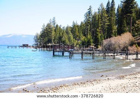 Mckinney Bay , Lake Tahoe, California, USA - stock photo