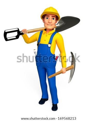 Mechanic with spade