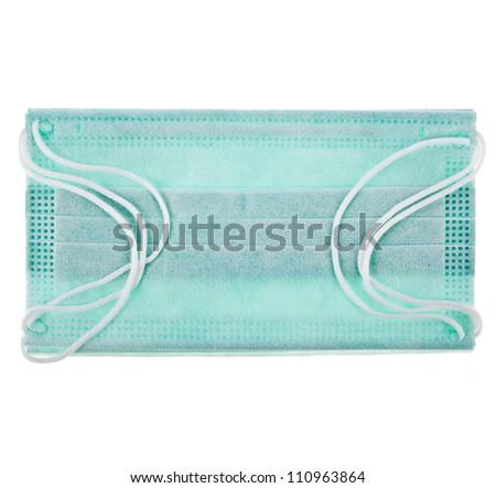 Medical  protective shielding bandage on white background - stock photo