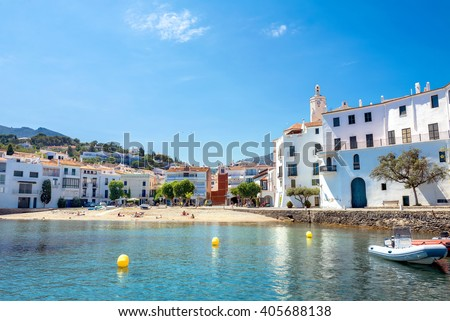 Mediterranean village of Cadaques. Costa Brava, Catalonia, Spain   - stock photo