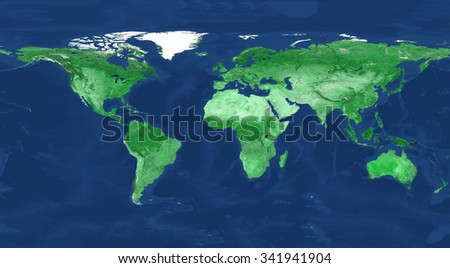 200 Mega Pixel size physical world map illustration. Beautiful colors. Highest detail. Primary source, elements of this image furnished by NASA. - stock photo