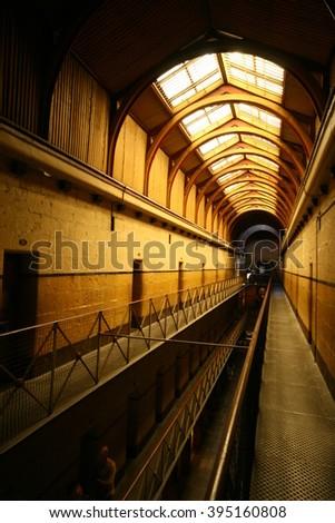 Melbourne, Australia - Nov 12, 2007: Old Melbourne Gaol - stock photo