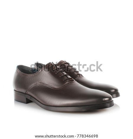 Mens shoes on a white background