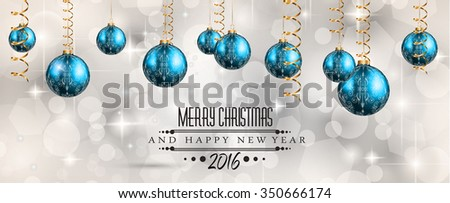 2016 Merry Christmas and Happy New Year Background for Seasonal Greetings Cards, Parties Flyer, Dineer Event Invitations, Xmas Cards and sp on. - stock photo