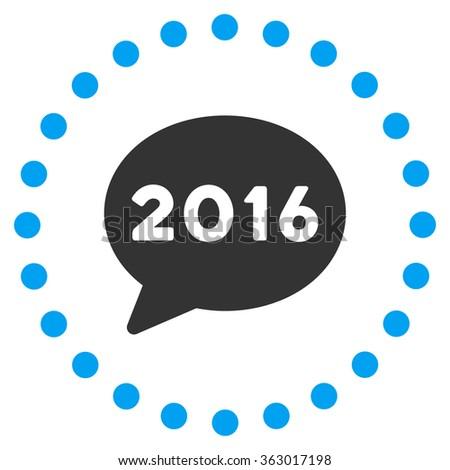 2016 Message Icon - stock photo