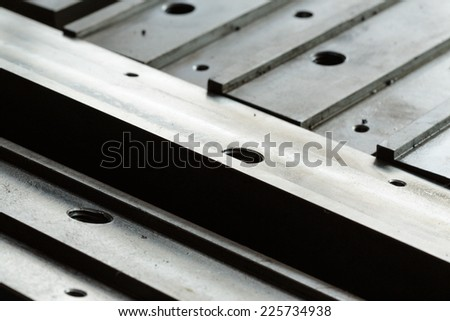 metal background in many pattern style. - stock photo