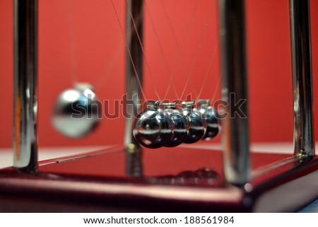 Metal balls - stock photo