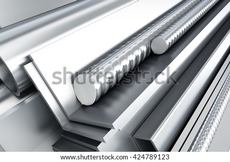 metal products. 3d Illustrations background