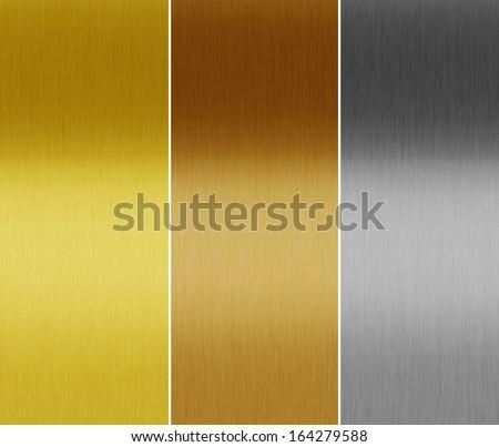metal textures - stock photo