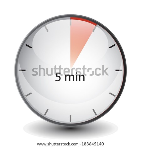 5 minutes timer - stock photo
