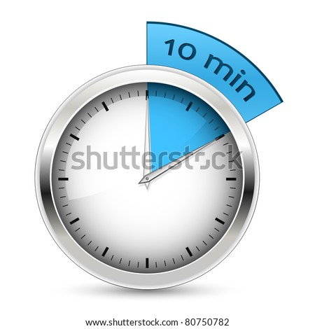 10 minutes. Timer. Raster version - stock photo